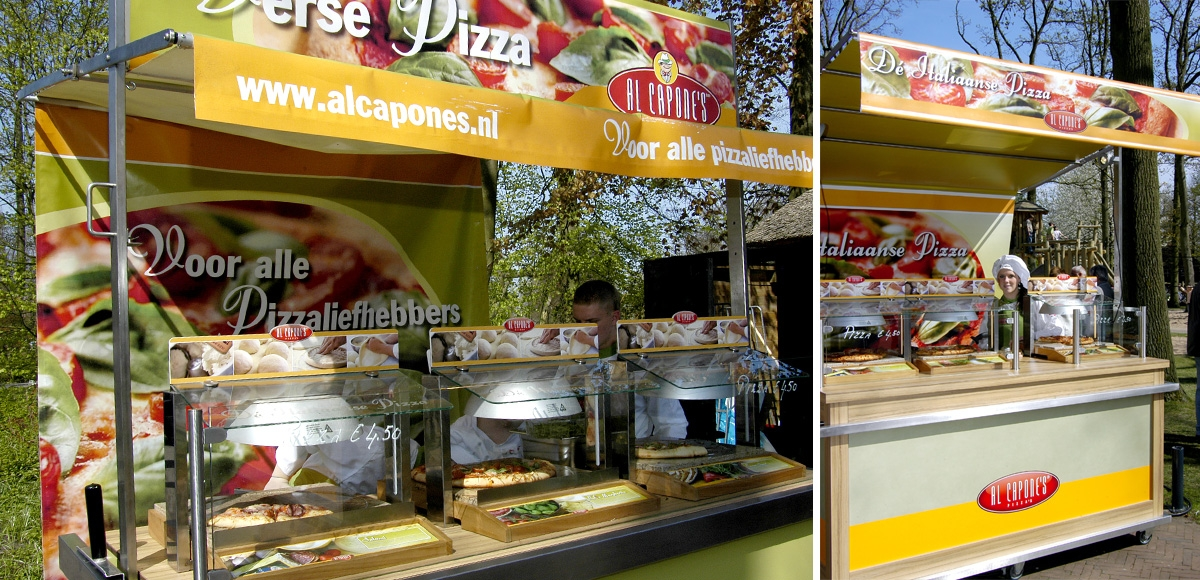 Al Capone's Pizza's: Mobiel Verkoopmeubel