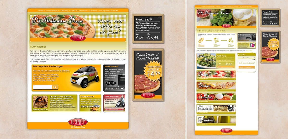 Al Capone's Pizza's: Website