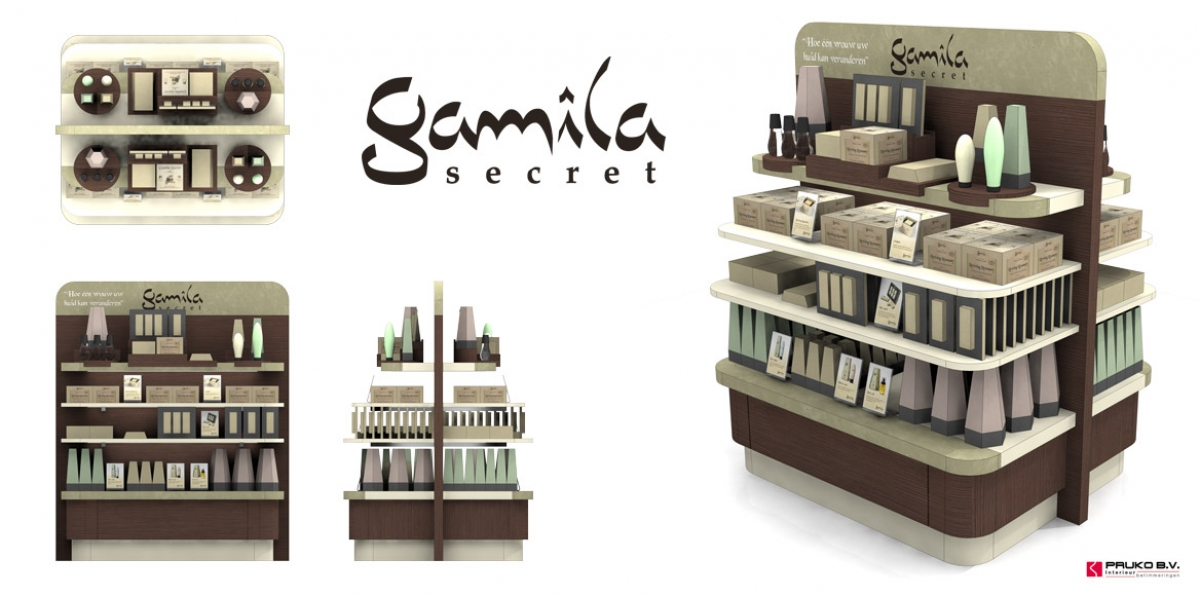 Pruko: Gamilla Secret Presentatiemeubel