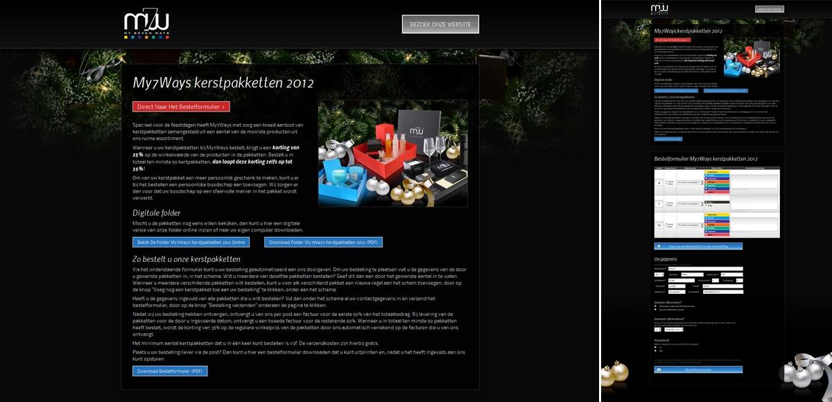 My7Ways: Bestelpagina Kerstpakketten 2012