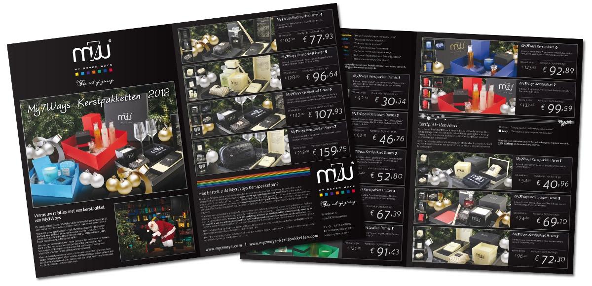 My7Ways: Folder Kerstpakketten 2012