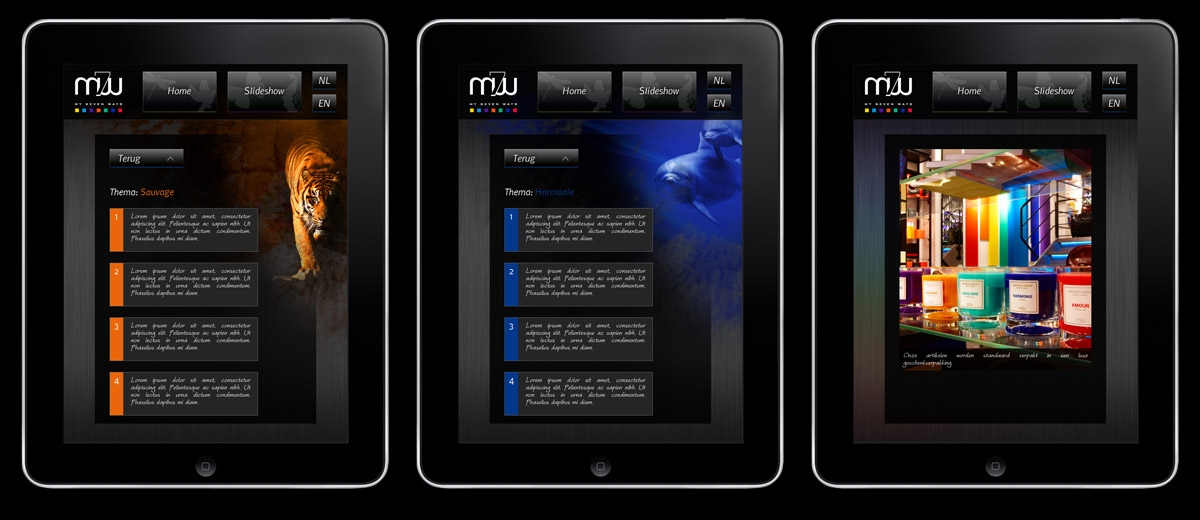 My7Ways: iPad Applicatie