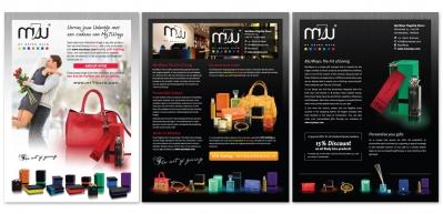 Advertenties voor verschillende glossy magazines