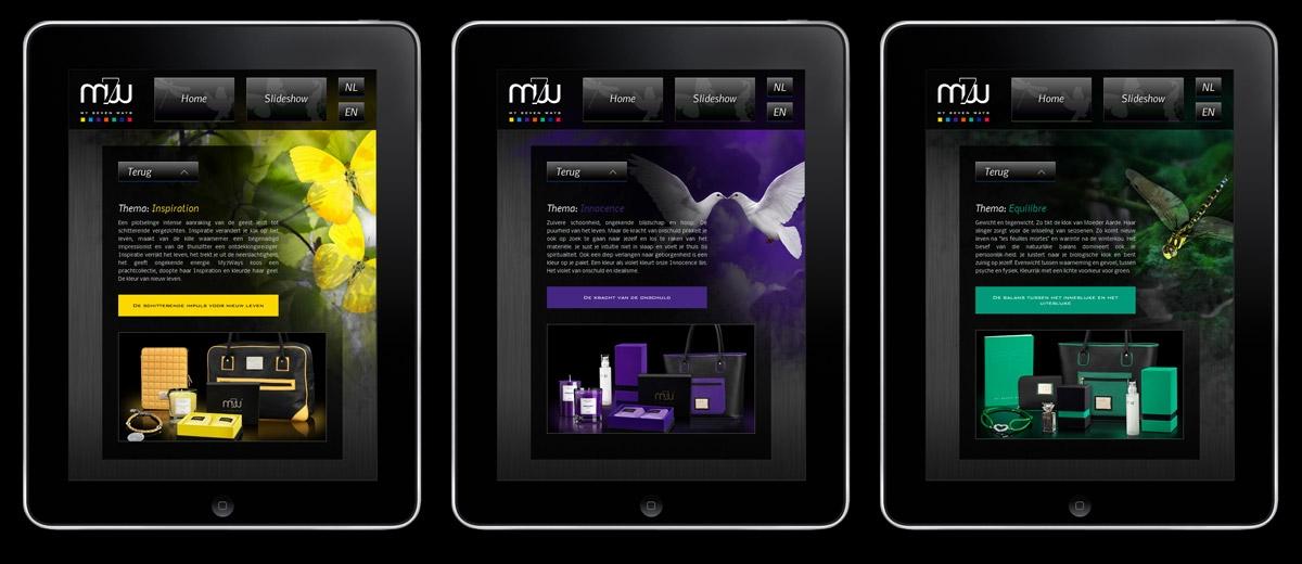 My7Ways: iPad Applicatie