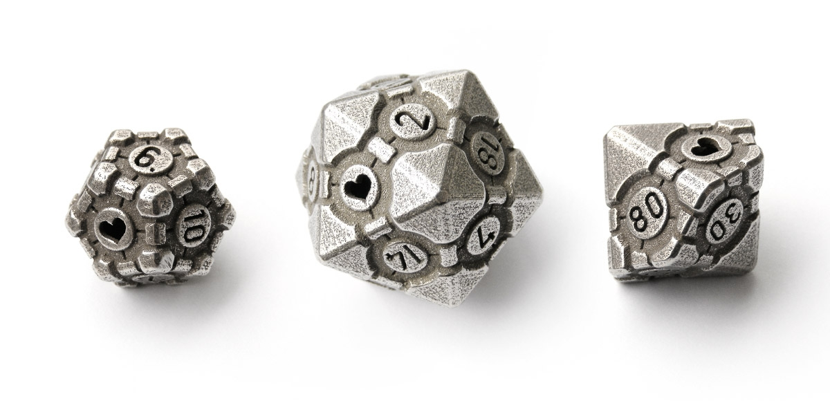 Tiny Tokens: Portal Companion Cube Dice