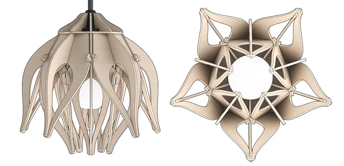 Trotec Laser: Lampen 'Lotus'